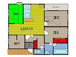 大杉様方アパート[201号室]の間取り