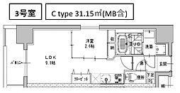 ミラージュパレス南船場[804号室号室]の間取り