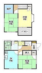 [一戸建] 広島県福山市山手町7丁目 の賃貸【/】の間取り