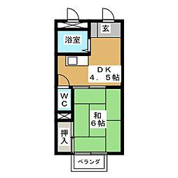 レストプレイス[2階]の間取り