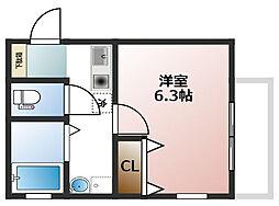 大物新築アパート[101号室]の間取り