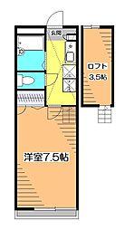 東京都小平市天神町4丁目の賃貸アパートの間取り