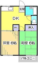 エース一里塚[2階]の間取り