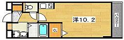 コンフォート・アザレア2番館 3階ワンルームの間取り