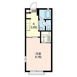 ローズハイム[2階]の間取り