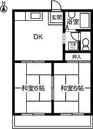 メゾン松本II[203号室]の間取り