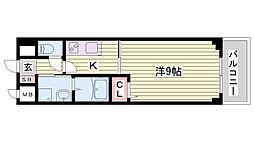 JR東海道・山陽本線 西明石駅 バス18分 玉津インター前下車 徒歩8分の賃貸マンション 4階1Kの間取り