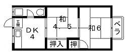 長池パンション[A6号室号室]の間取り