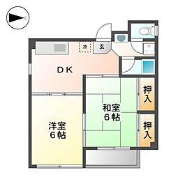 愛知県名古屋市西区天神山町の賃貸マンションの間取り