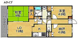 deuxローズレイア[5階]の間取り