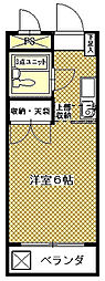 グランドール横倉[305号室]の間取り