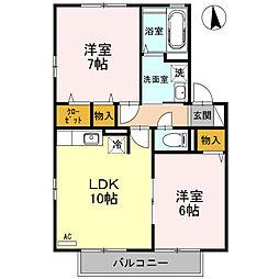 リビングタウン金沢参番館 B[2階]の間取り