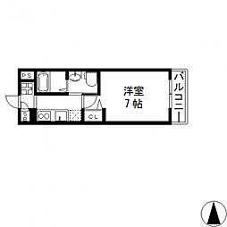 M'プラザ小阪駅前[602号室号室]の間取り