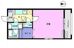 愛知県稲沢市国府宮1丁目の賃貸アパートの間取り