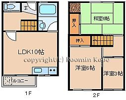 松が丘住宅 10号棟[207号室]の間取り