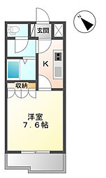 埼玉県さいたま市岩槻区加倉4丁目の賃貸マンションの間取り