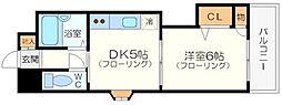 有馬パレス新大阪[2階]の間取り