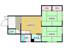 兵庫県神戸市垂水区西舞子9丁目の賃貸マンションの間取り