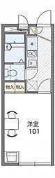 兵庫県神戸市北区有野町有野の賃貸アパートの間取り