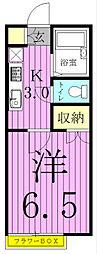 埼玉県八潮市八潮6丁目の賃貸アパートの間取り