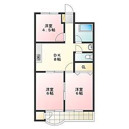 第4三宅ビル[2階]の間取り