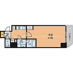 ファーストフィオーレ東梅田 11階1Kの間取り