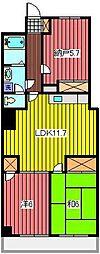 レジデンス武蔵野[6階]の間取り