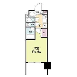 レジディア新大阪[1204号室]の間取り