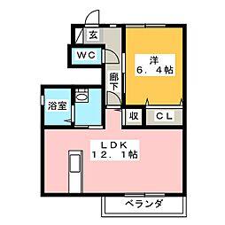 グラングレース A[1階]の間取り