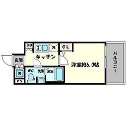 エスリード心斎橋EAST[9階]の間取り