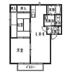 メゾンティファA[2階]の間取り