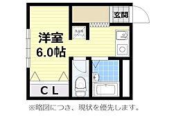 四ツ橋本町双葉プラザ[2階]の間取り