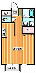 プレミールK住之江[207号室]の間取り