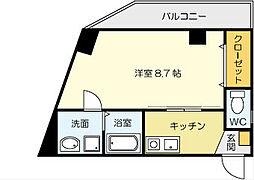 矢島ビル[3階]の間取り