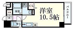 SDグランツ神戸大開通 4階ワンルームの間取り