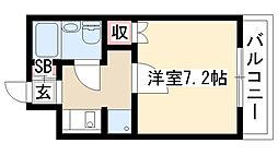愛知県名古屋市緑区黒沢台3丁目の賃貸マンションの間取り