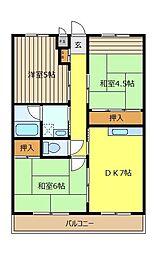 コ−ポ榎本[205号室]の間取り