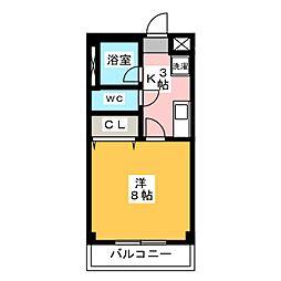 ピッコロハイツ[2階]の間取り