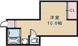GS阿倍野[402号室]の間取り