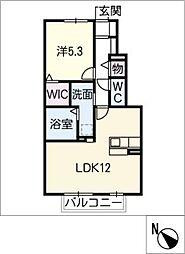 仮)D−room東阿倉川[1階]の間取り