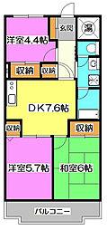 ファインライフ新所沢[5階]の間取り