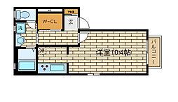 兵庫県神戸市長田区久保町9丁目の賃貸アパートの間取り