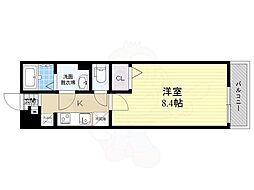 阪急神戸本線 塚口駅 徒歩8分の賃貸アパート 1階1Kの間取り