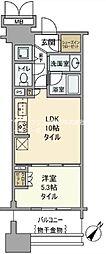 晴海テラス 5階1LDKの間取り