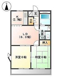 静岡県富士市川成島の賃貸マンションの間取り