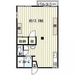 グリーンアパートメントB棟[203号室号室]の間取り