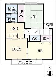 CASA・VERDE朝日[2階]の間取り