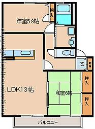 サンシャイン呉地[B107号室]の間取り