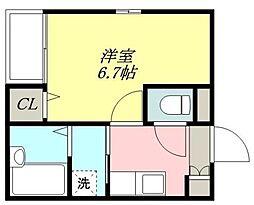 コスモコート[203号室]の間取り