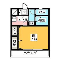 グリーンコート花中[3階]の間取り
